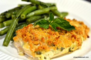 Pine Nut and Parmesan Crusted Chicken - Chew Nibble Nosh