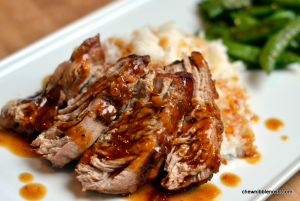Slow Cooker Pork Tenderloin with Orange Hoisin Glaze - Chew Nibble Nosh