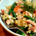Salmon, Asparagus, and Orzo Salad with Lemon-Dill Vinaigrette