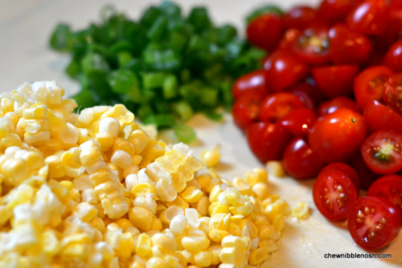 Chicken Paillards with Tomato, Basil and Roasted Corn Relish 1 - Chew Nibble Nosh