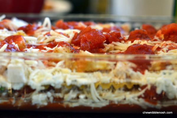 Chicken Parmesan Lasagna - Chew Nibble Nosh 5