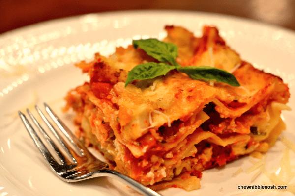Chicken Parmesan Lasagna - Chew Nibble Nosh