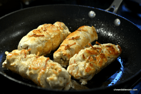 Easy Stuffed Chicken Roulades - Chew Nibble Nosh 4