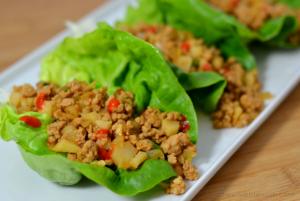 Copycat P.F. Chang's Chicken Lettuce Wraps - Chew Nibble Nosh.