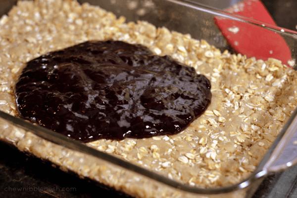 Oatmeal Coconut Raspberry Bars - Chew Nibble Nosh 3