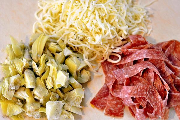 Spiralized Italian Pasta Salad - Chew Nibble Nosh 1