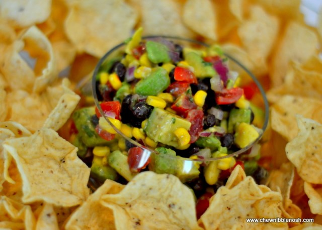 Black Bean, Corn and Avocado Salsa - Chew Nibble Nosh
