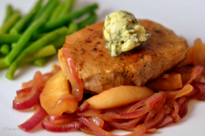 Skillet Pork Chops with Apples and Maple-Sage Butter - Chew Nibble Nosh