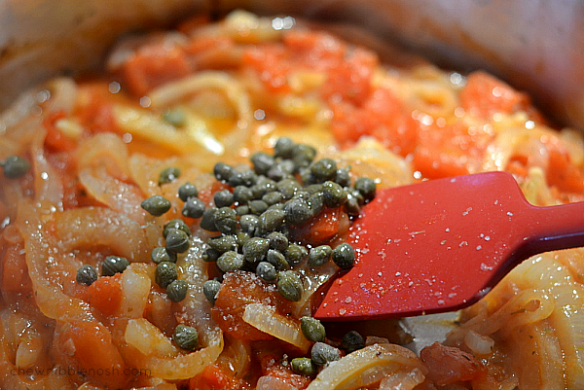 Cauliflower Gratin with Tomatoes and Feta - Chew Nibble Nosh 4
