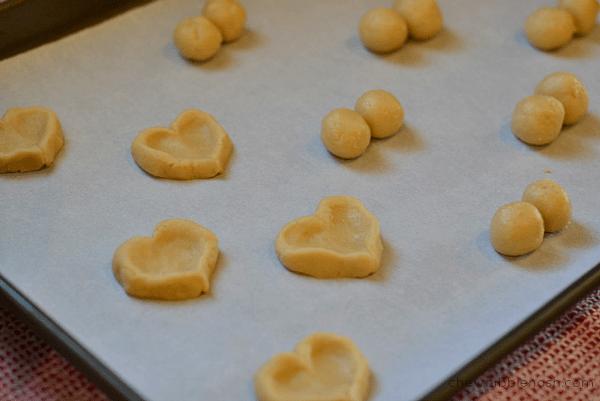 Valentine Heart Thumbprint Cookies - Chew Nibble Nosh 3