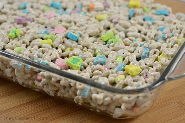 Lucky Charms Marshmallow Treats - Chew Nibble Nosh 4