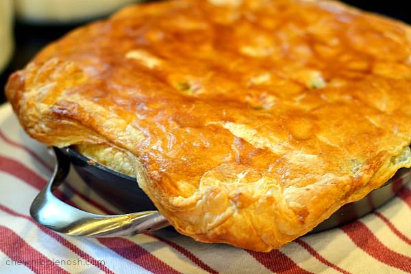 Skillet Chicken Pot Pie with Butternut Squash - Chew Nibble Nosh 7