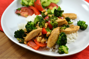 Lightened Up Kung Pao Chicken - Chew Nibble Nosh