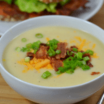 Instant Pot Loaded Potato-Cauliflower Soup