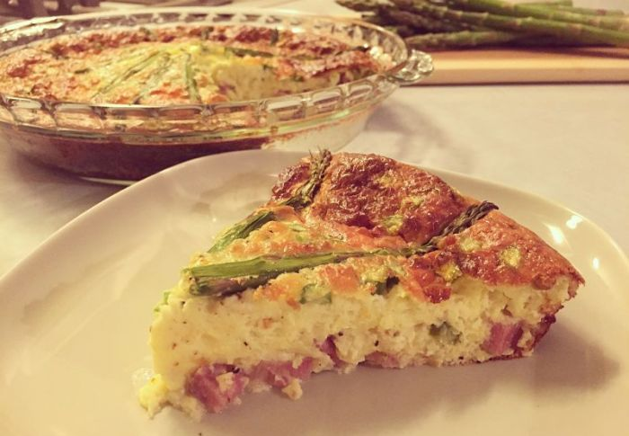 Asparagus and Ham Quiche