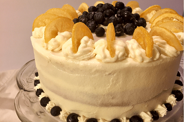 Lemon Blueberry Cake with Lemon Cream Cheese Frosting