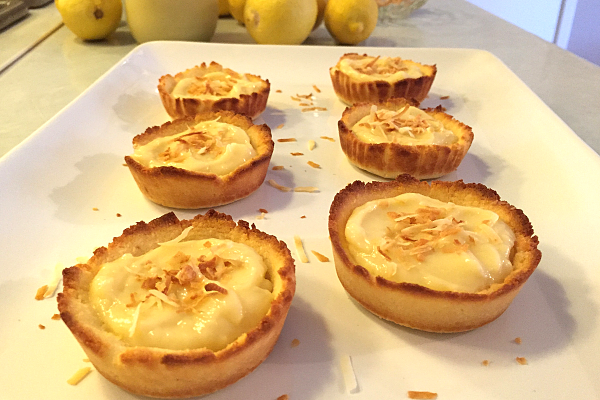 Paleo Coconut Lemon Tartlets