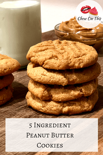 Peanut Butter Cookies   These easy 5 ingredient peanut butter cookies bake up fast, are melt in your mouth delicious...and they're flourless!