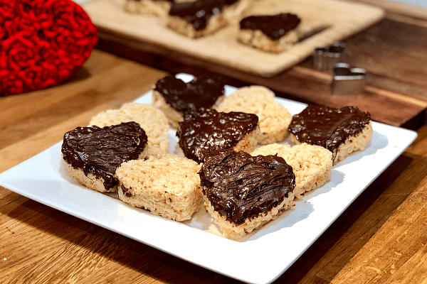 Chocolate Covered Rice Krispie Hearts - Chew On This