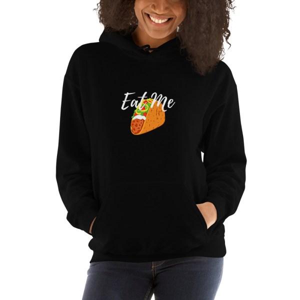 Women's Clothing   Hooded Sweatshirt - Eat Me