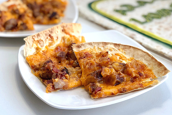 Bacon Brat & Apricot Flatbread Pizza