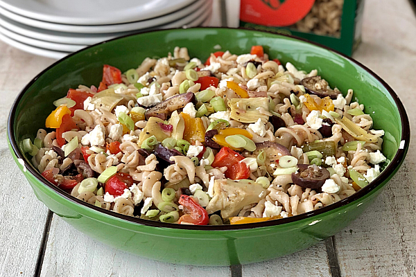 Cassava Pasta Salad with Roasted Veggies