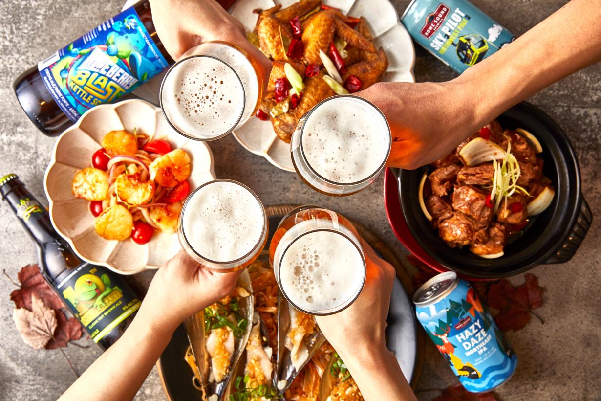 板橋凱撒大飯店 以食品酩加拿大精釀啤酒
