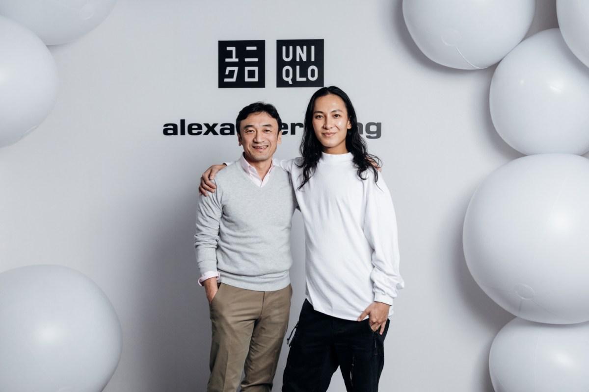 知名設計師alexander Wang與uniqlo全球研發總裁勝田幸宏, 特別親臨發表會現場
