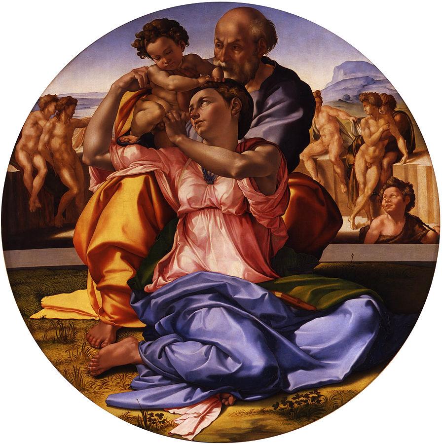 896px Michelangelo Buonarroti Tondo Doni Google Art Project