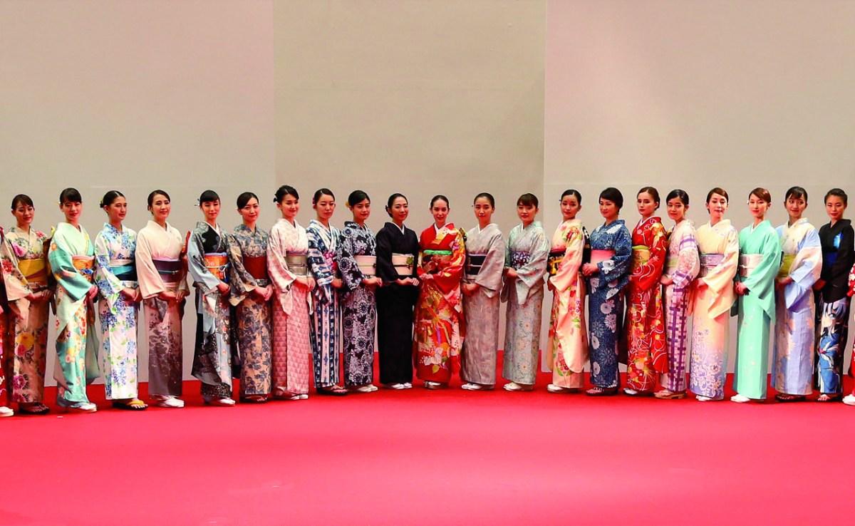 Kimono Fashion Show glove Japanfs Beautyh 2