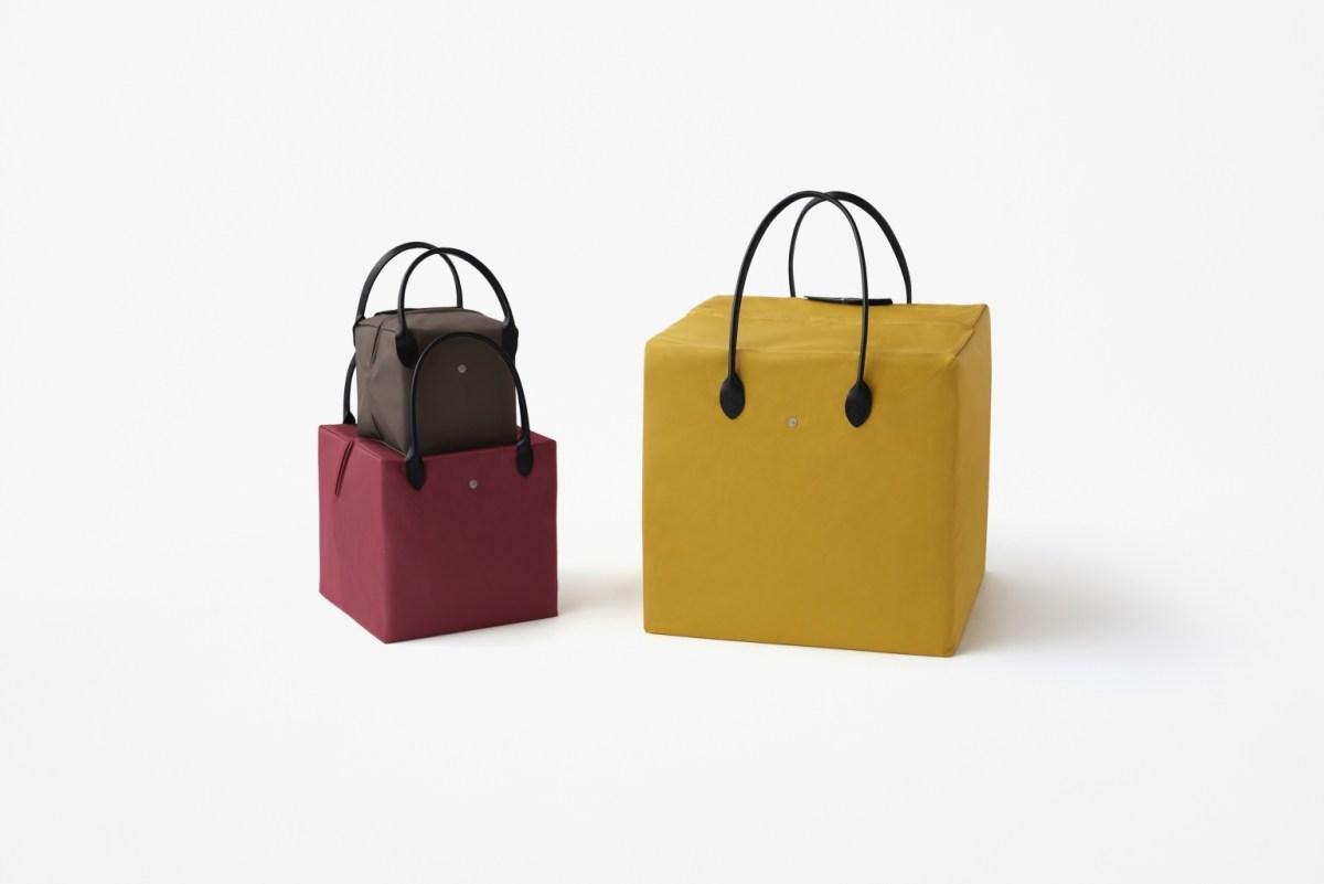 Longchamp X Nendo聯名系列立方體手袋