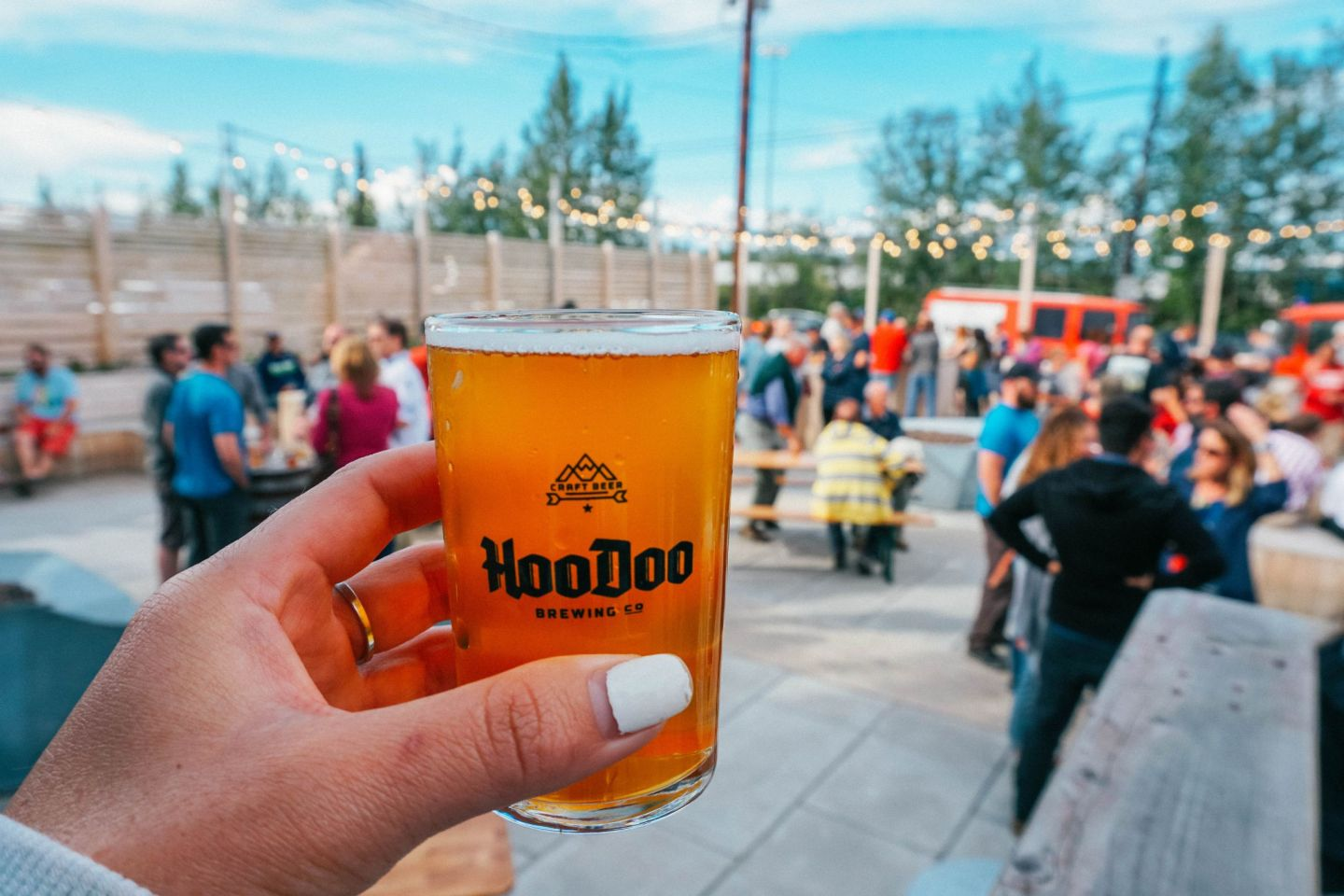 Visit HooDoo Brewery, a popular watering hole with great craft beer in Fairbanks, Alaska.