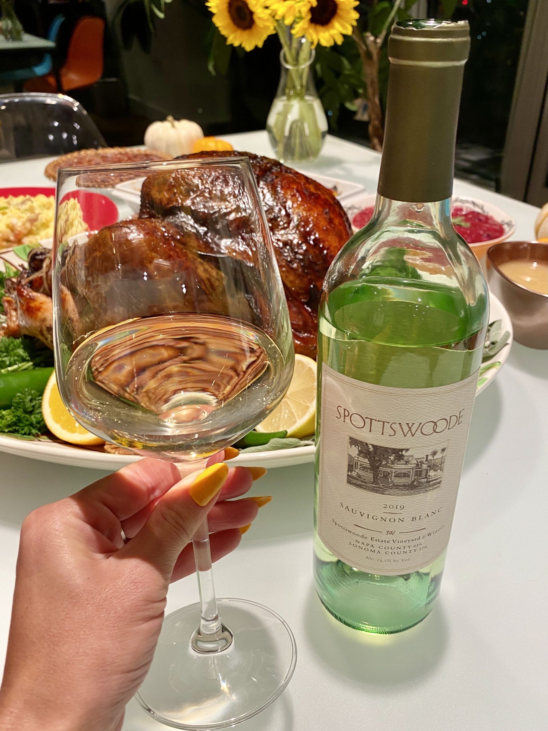 Sauvignon blanc and turkey
