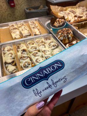 Cinnabon mini buns.
