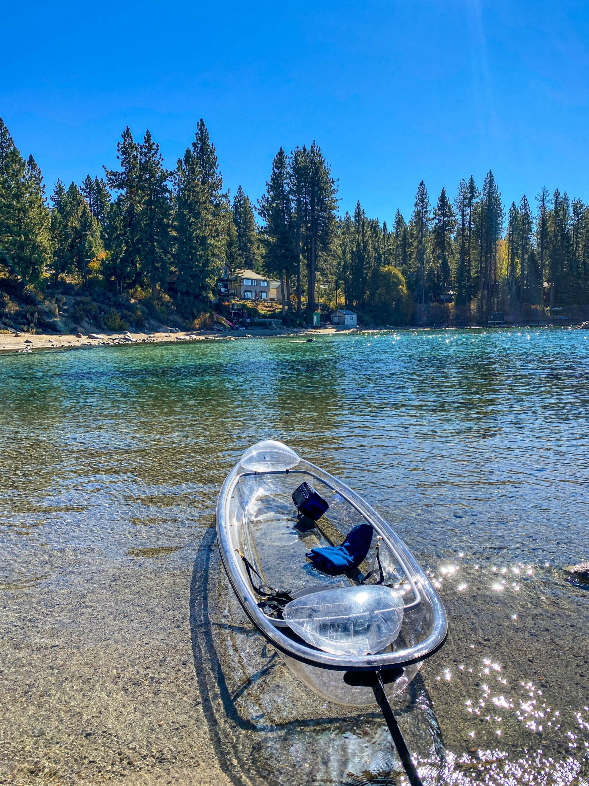 xperiencing the lake on a guided tour in a clear kayak is one of the most unique ways to see the glory of Lake Tahoe!