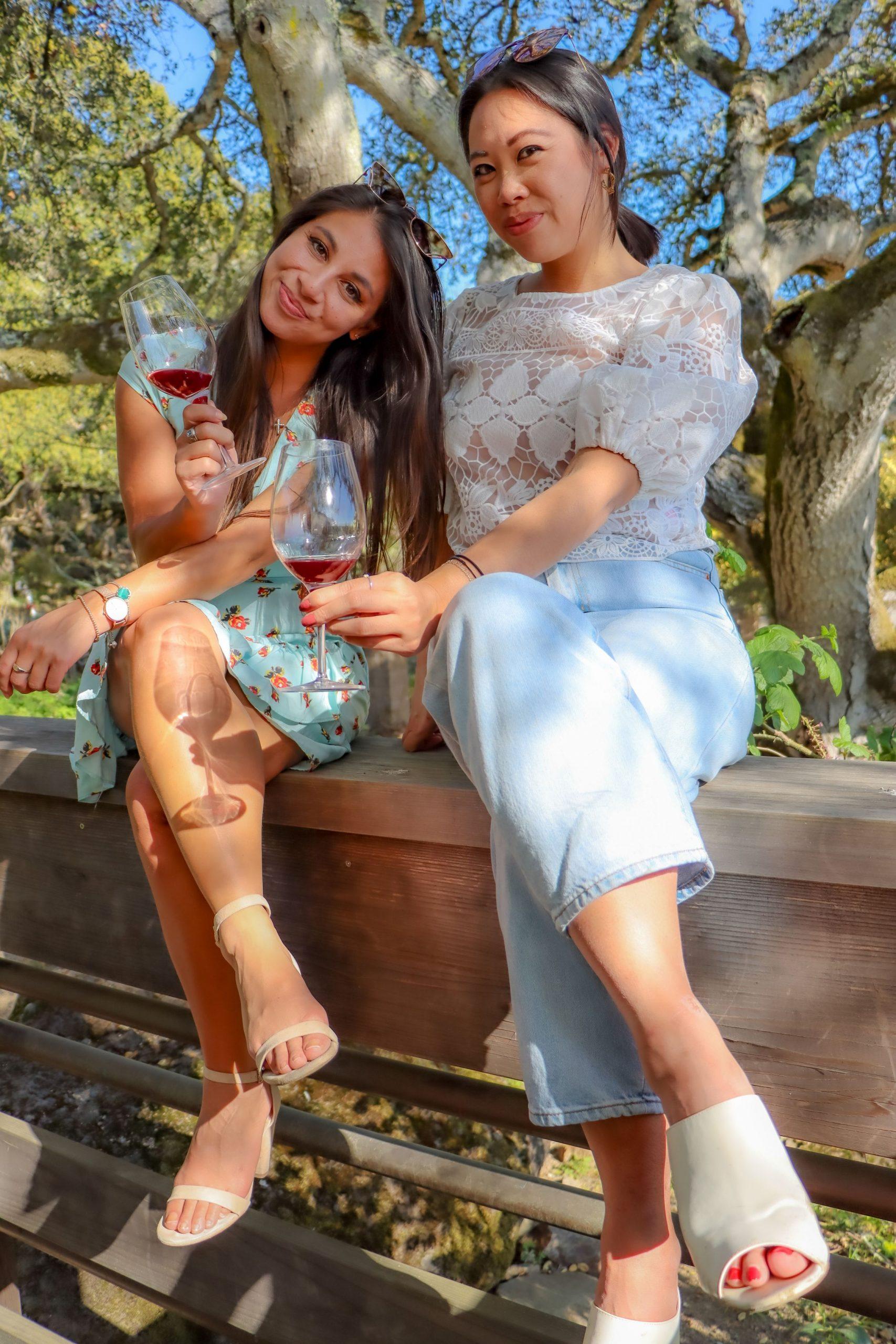 Wine tasting in Sonoma County.