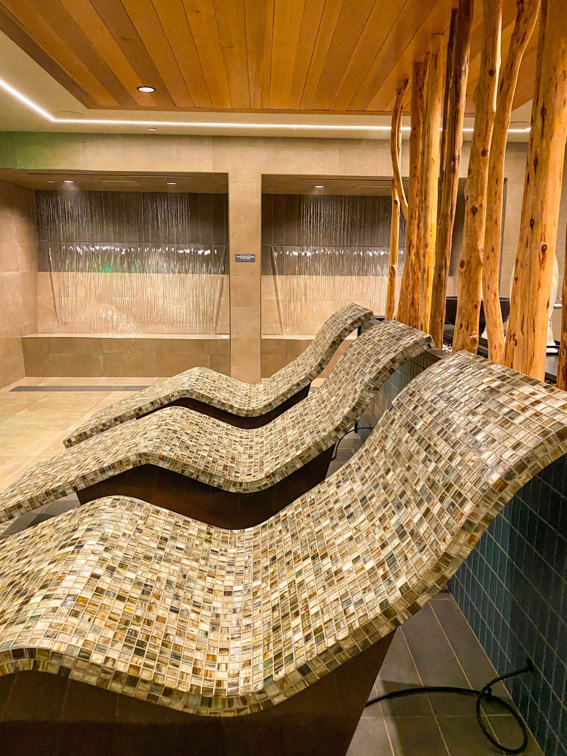The interior of Rush Creek Spa