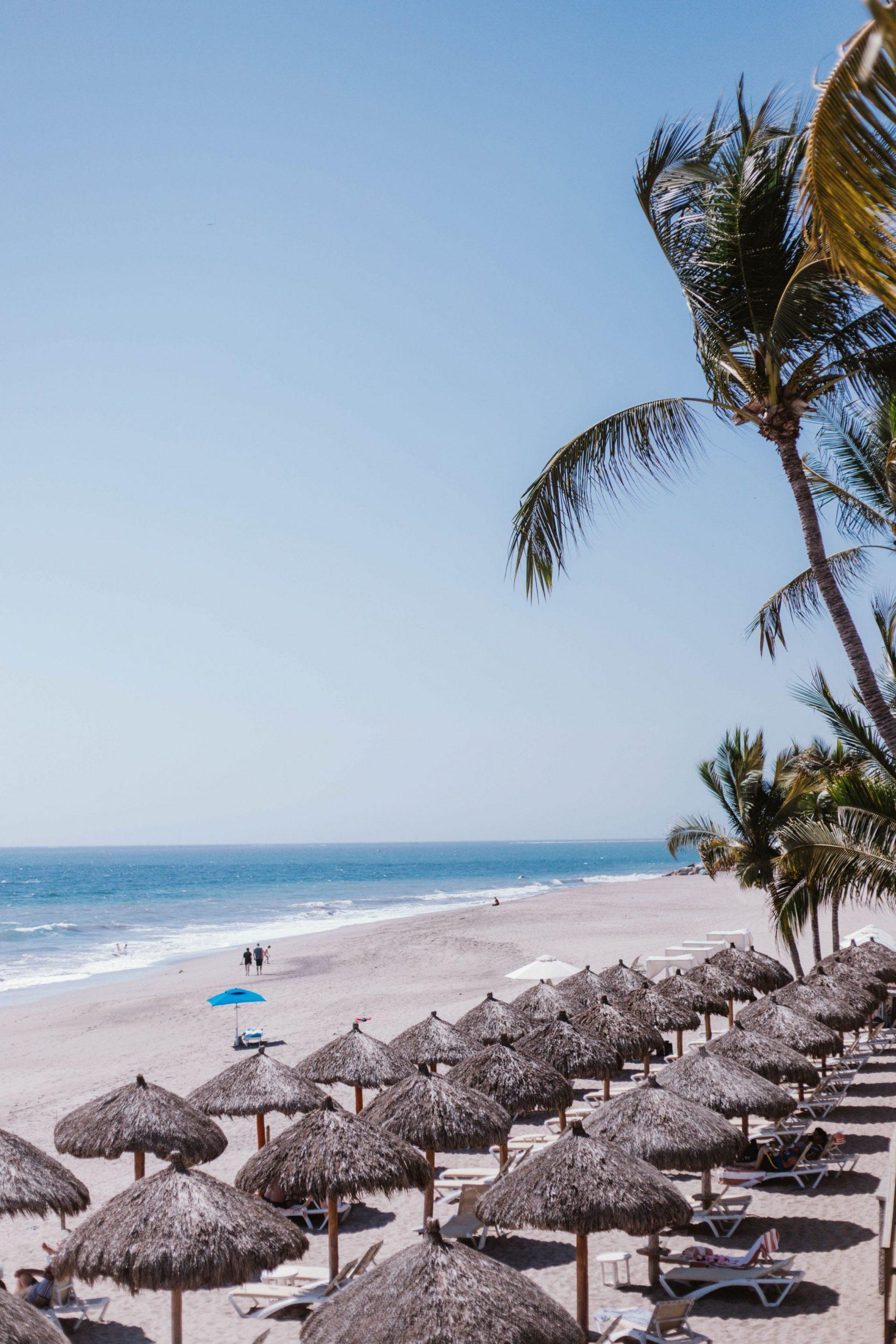 Stunning beach in Puerto Vallarta, Mexico.