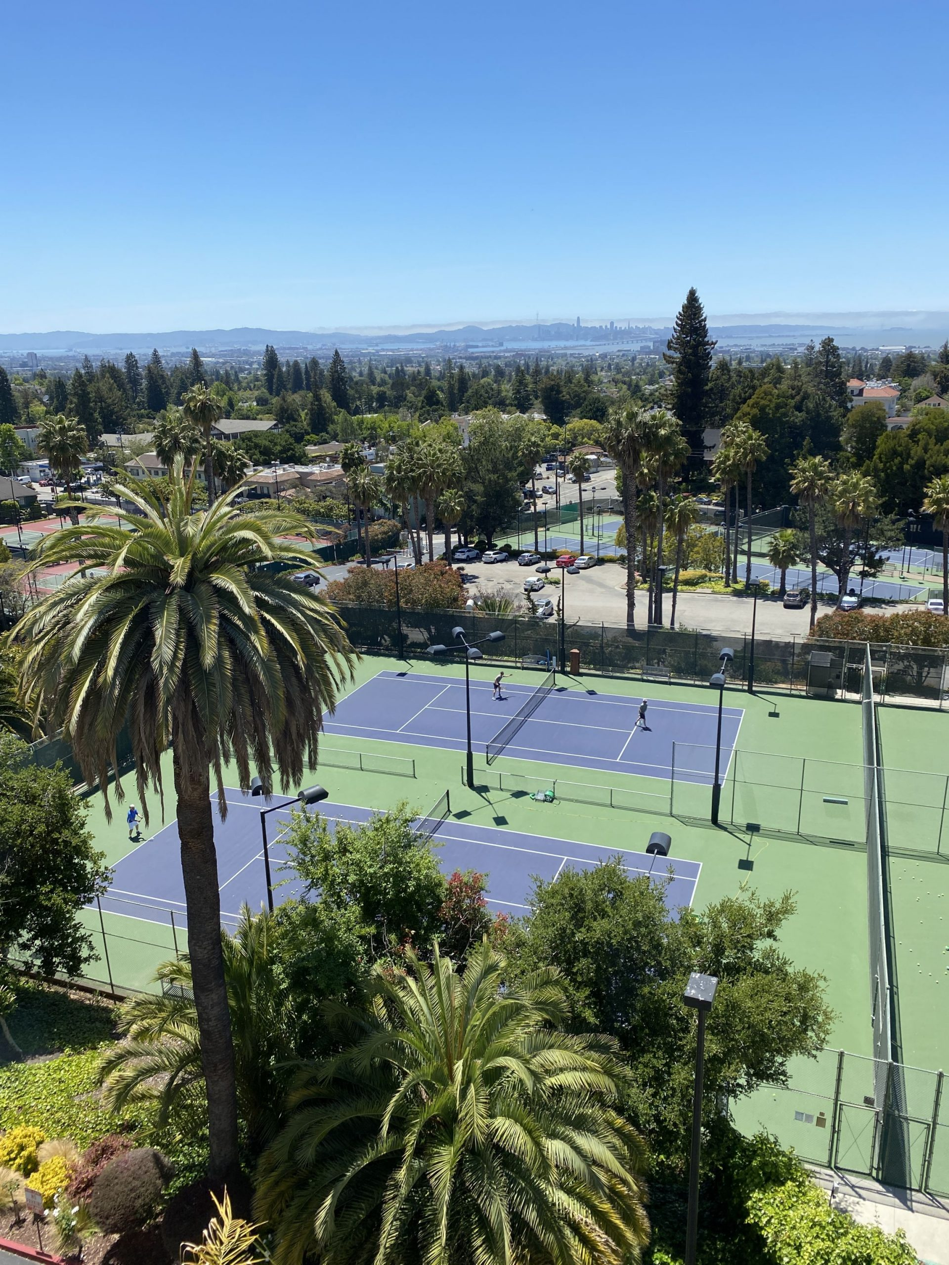 The view from my room at the Claremont Hotel And Spa