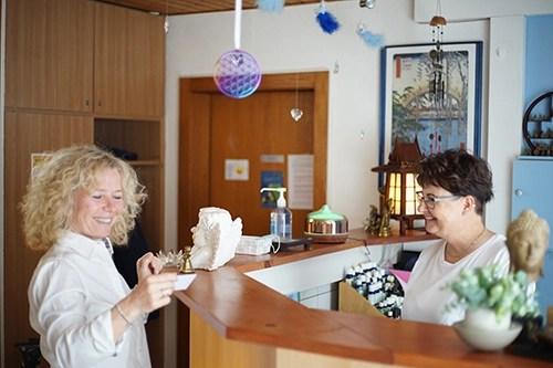 Photo de l'accueil de l'Espace Santé Chez Astrid, à Marin (NE)