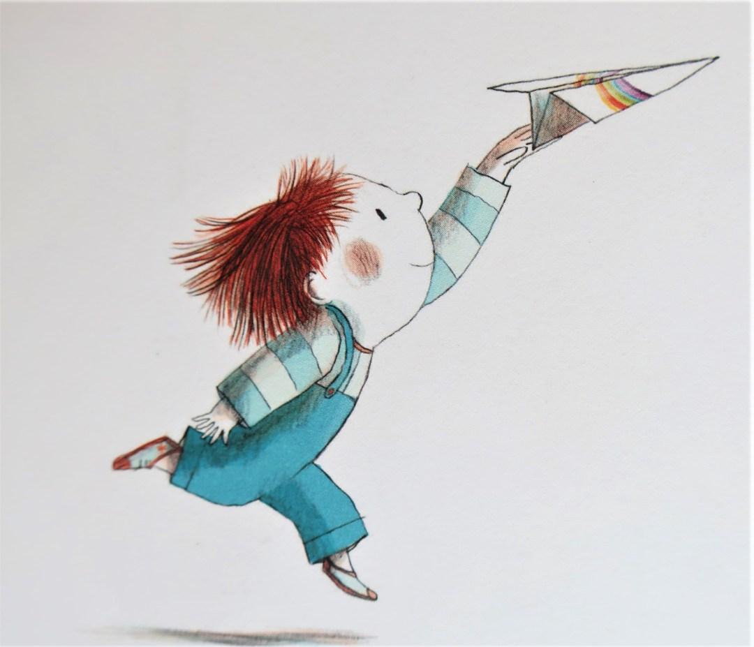 """L'enfant volant - """"Mon dessin décolle !"""""""