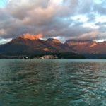 coucher de soleil lac