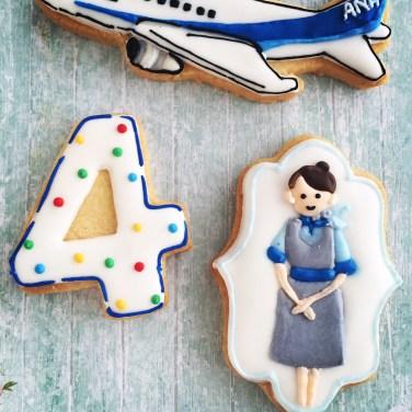 飛行機アイシングクッキー