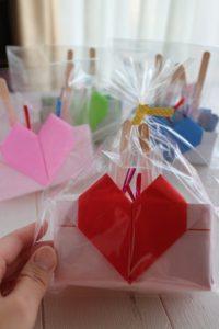 ハートの折り紙ボックス