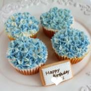 紫陽花カップケーキ, バタークリームカップケーキ, buttercreamcupcake, 米粉カップケーキ