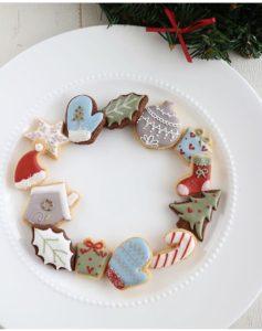 クリスマスアイシングクッキー, アイシングクッキー, ミニアイシングクッキー,白金台アイシングクッキー教室