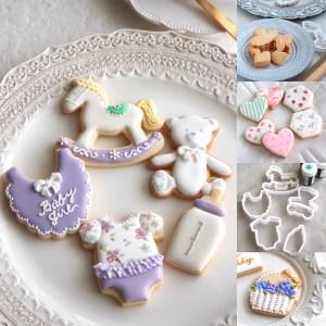 ベビーシャワーアイシングクッキー, 出産祝い, アイシングクッキーレッスン