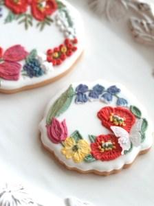 刺繍アイシングクッキー, アイシングクッキー, 刺繍, オンラインレッスン