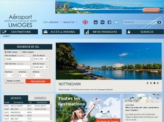 Home page of Limoges Airport