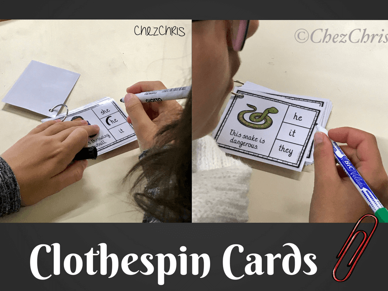 Les clothespin cards